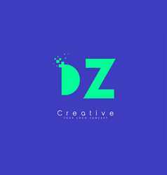 dz letter logo design with negative space concept vector image