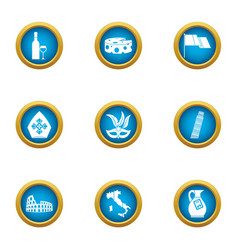 European peace icons set flat style vector