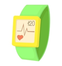Fitness bracelet icon cartoon style vector