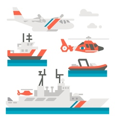 Flat design coast guard vehicle vector