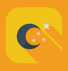 Flat modern design with shadow icons moon vector