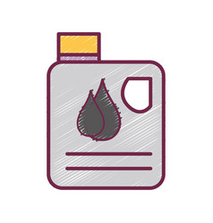 Gasoline bottle with drops to car industrial vector