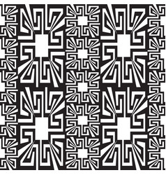 Geometric black and white greek seamless borders vector