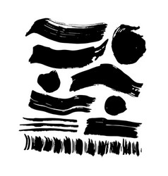 hand drawn ink brush strokes vector image