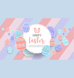 Happy easter with egg background vector