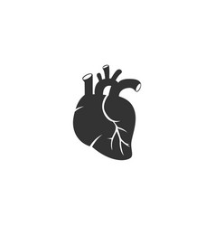 heart icon heart black icon heart isolated on vector image