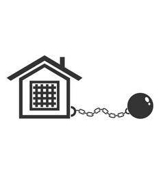 house with metal shackles vector image