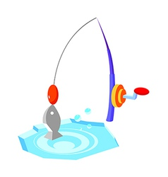 Icon fishing vector