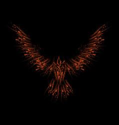 ink blots orange raven vector image