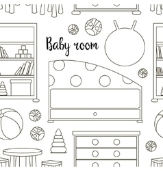 Interior of baby room pattern vector