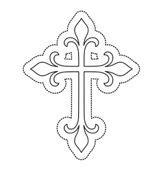 Isolated cross shape design vector image