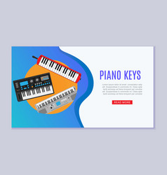 keyboard musical instruments shop with electronic vector image