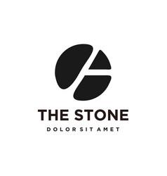 Logo design stone brick silhouette minimalist vector
