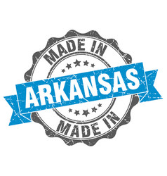 made in arkansas round seal vector image