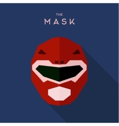 Mask helmet spacesuit robot alien red anti-hero vector