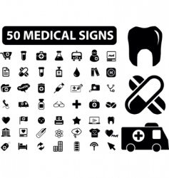 Medical signs vector vector