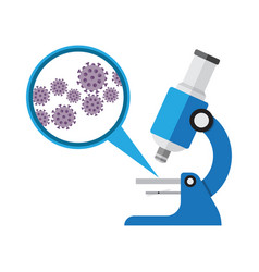 Microscope laboratory equipment research with vector