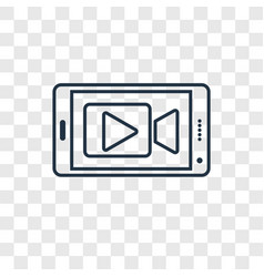 mobile video concept linear icon isolated on vector image