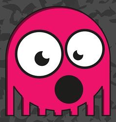 Monster on grunge background vector
