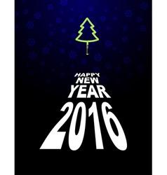 New year and Christmas tree Light Christmas tree vector image