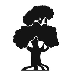 Oak icon simple style vector image