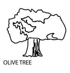olive tree icon outline style vector image