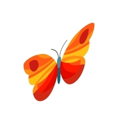 Orange butterfly icon isometric 3d style vector