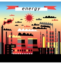 Plant and thermal power plant vector image