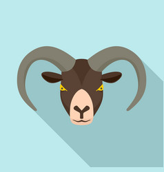 ram head icon flat style vector image