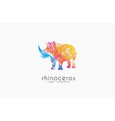 Rhino logo Animal logoAnimal logo collection vector image