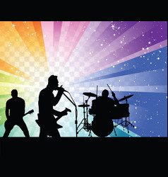 rock group silhouett vector image