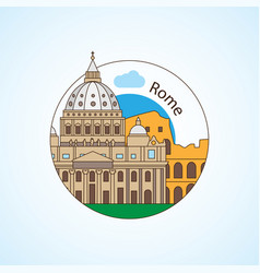 rome italy detailed silhouette vector image