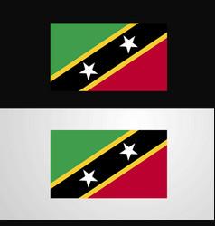 saint kitts and nevis flag banner design vector image