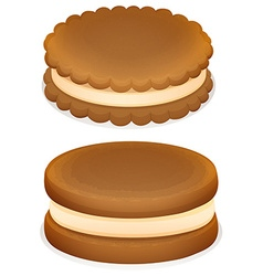 Sandwich cookies with cream vector image
