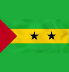 Sao tome and principe waving flag sao tome and vector