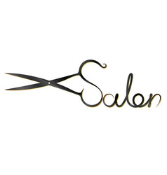 Scissors for beauty salon symbol vector