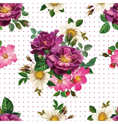 seamless pattern bouquet of flowers vector image