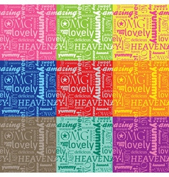 seamless yummy pattern vector image vector image