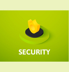 Security isometric icon isolated on color vector
