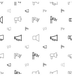 shout icons pattern seamless white background vector image