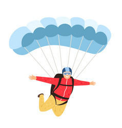 Skydiver isolated on white vector