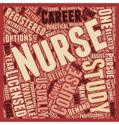 So You Want To Be A Nurse text background vector image