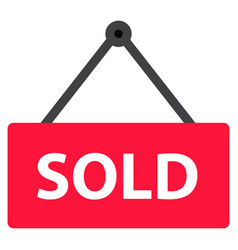 sold icon on white background flat style sold vector image