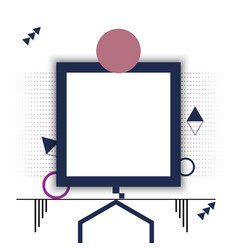 Square frame design geometry vector