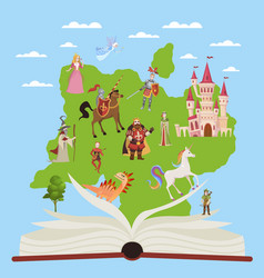 Story book child educational books with stories vector