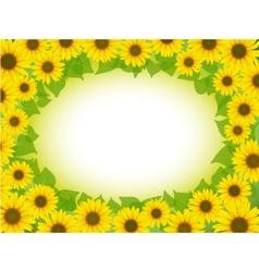 Sunflower frame vector