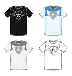 T-shirt fan with printfans single icon in cartoon vector