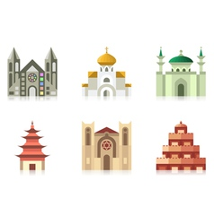 Temples vector image