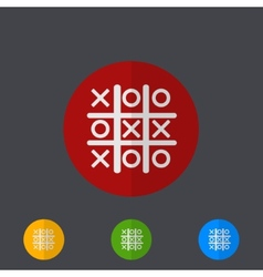 Tic tac toe circle icon set vector
