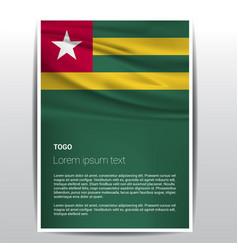 togo flag design vector image